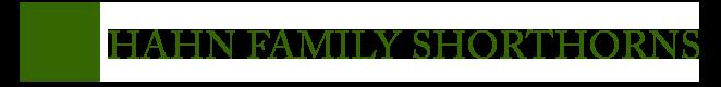 Hahn Family Shorthorns Logo